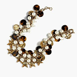 Tortoise cluster necklace