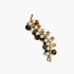 Tortoise cluster bracelet