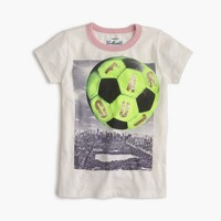 "Girls' ""far out"" soccer T-shirt"