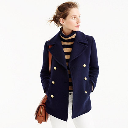 Petite majesty peacoat in stadium cloth