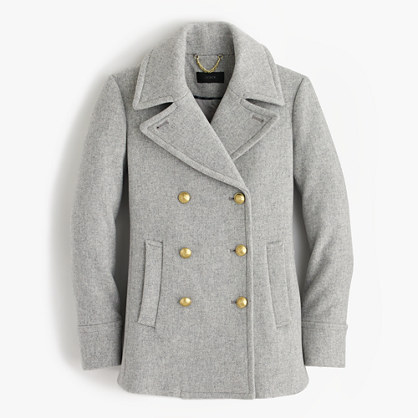 Tall majesty peacoat in stadium cloth