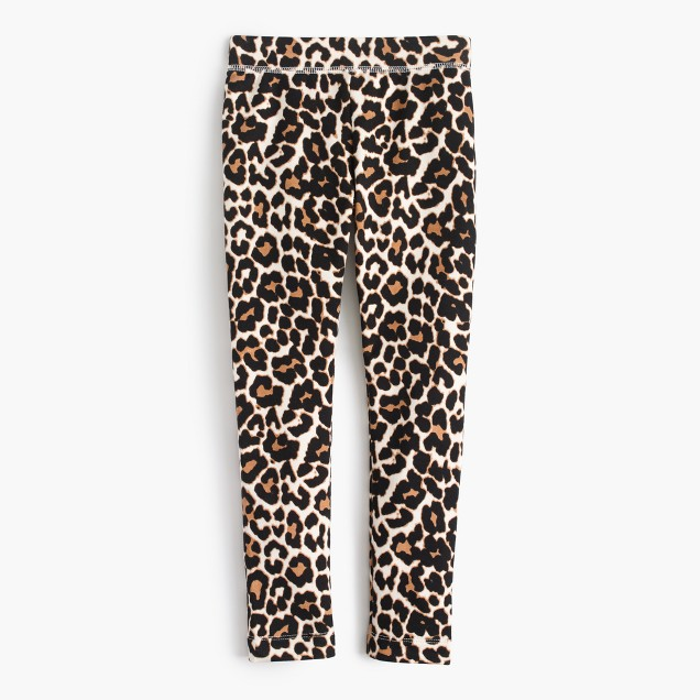 Girls' cozy everyday leggings in leopard