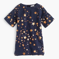 Girls' constellation-print sweatshirt dress