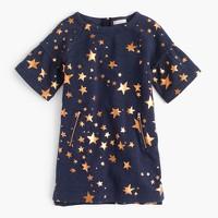 Girls' constellation-print sweatshirt dress