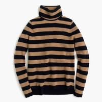 Italian cashmere ribbed turtleneck in stripe