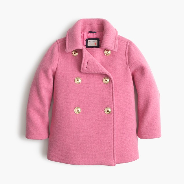 Girls' stadium cloth short peacoat