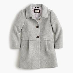 Girls' stadium-cloth A-line coat