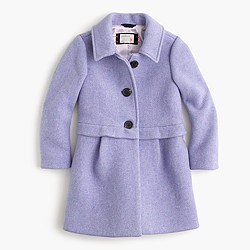 Girls' stadium-cloth A-line coat
