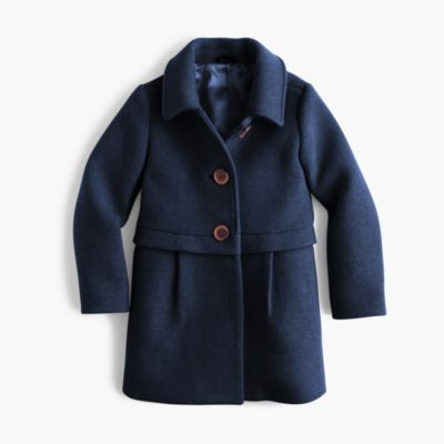 Girls' stadium cloth A-line coat