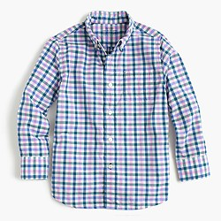 Kids' Secret Wash shirt in multicheck