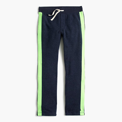Boys' glow-in-the-dark stripe classic sweatpant