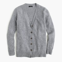 Classic V-neck cardigan in Donegal wool