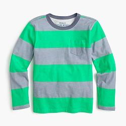 Boys' long-sleeve striped ringer T-shirt