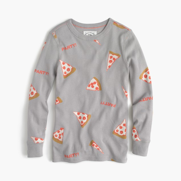 Boys' glow-in-the-dark pajama set in pizza party