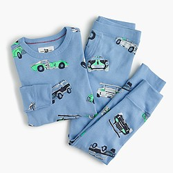 Boys' pajama set in automobiles