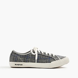 Seavees® for J.Crew 06/67 Monterey sneakers in glen plaid