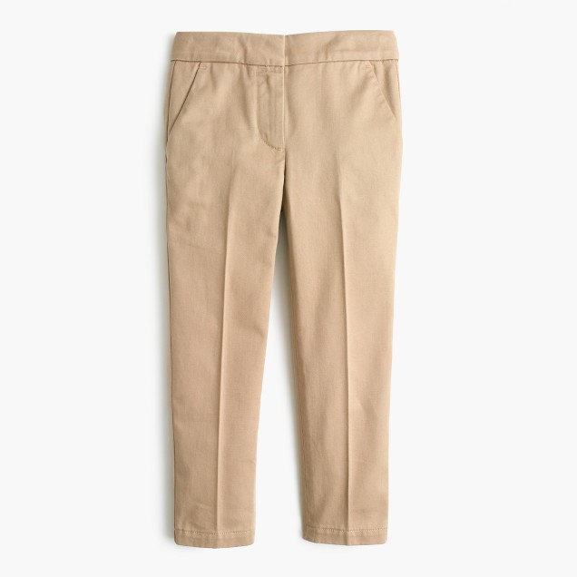 Girls' slim chino pant
