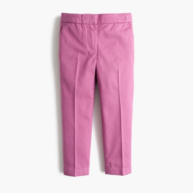 Girls' slim chino