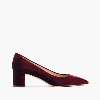 Avery heels in velvet