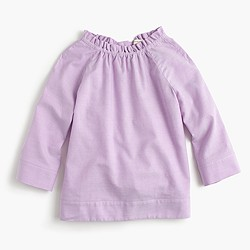 Girls' ruffle-neck top