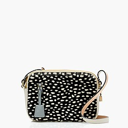 Signet bag in colorblock leopard Italian calf hair