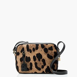 Collection Signet bag in Italian leopard-printed calf hair