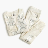 Girls' pajama set in metallic skeleton
