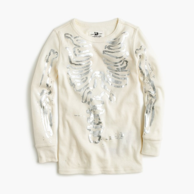 Girls' pajama set in metallic skeleton