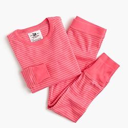 Girls' pajama set in mini stripe