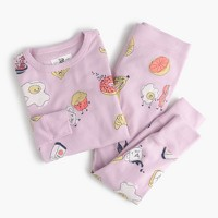 Girls' pajama set in balanced-ish breakfast