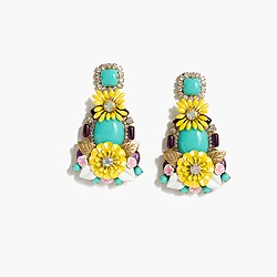 Floral chandelier earrings
