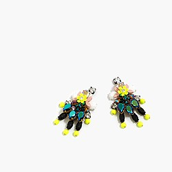 Floral confetti earrings