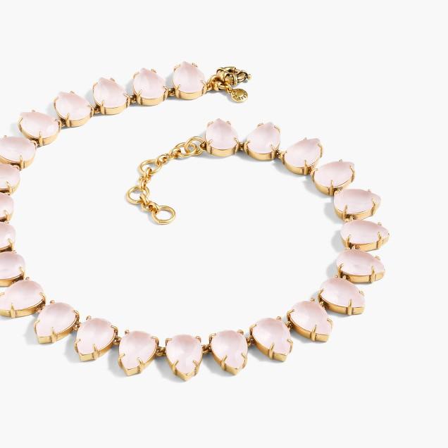 Teardrop crystal necklace