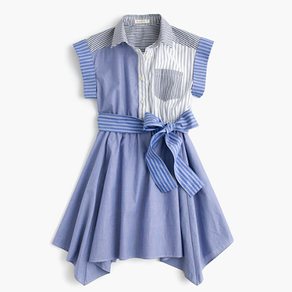 Girls' mash-up handkerchief dress