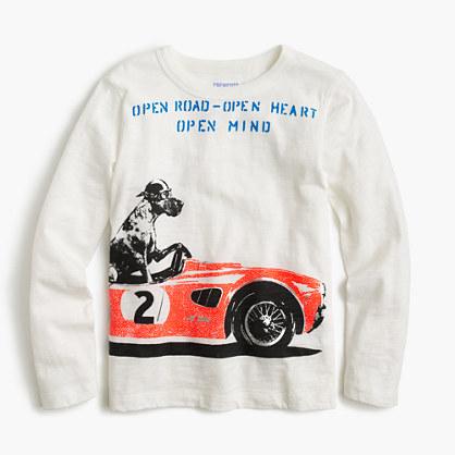 Boys' long-sleeve racing Great Dane T-shirt