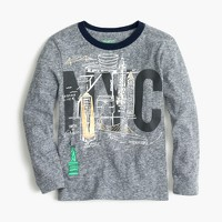 Boys' long-sleeve NYC-SF T-shirt in the softest jersey