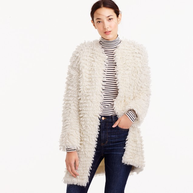 Collection loop cardigan sweater