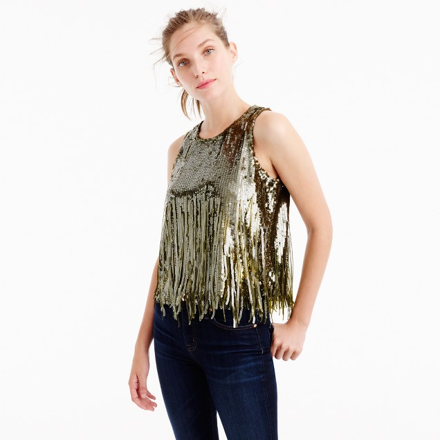 Collection sequin mermaid tank