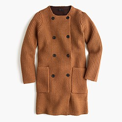 Collection bonded-knit sweater coat