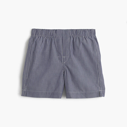 Boys' navy-striped boxers