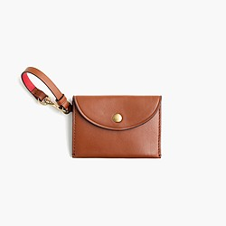 Coin purse in Italian leather