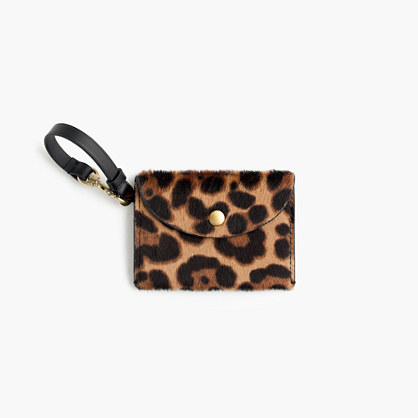 Coin purse in Italian calf hair