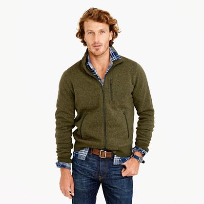 Tall Summit fleece full-zip jacket in olive