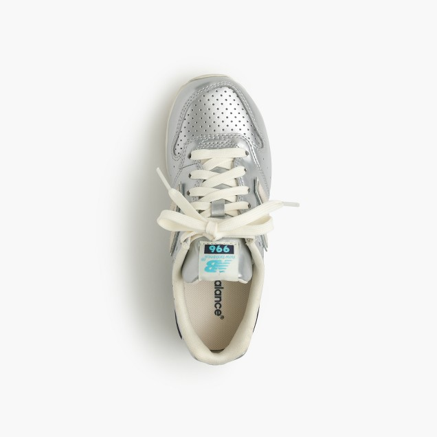 Kids' New Balance® for crewcuts 996 lace-up sneakers in silver