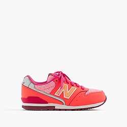 Kids' New Balance® for crewcuts 996 lace-up sneakers in neon tweed