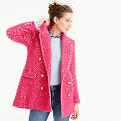 Diamond tweed coat