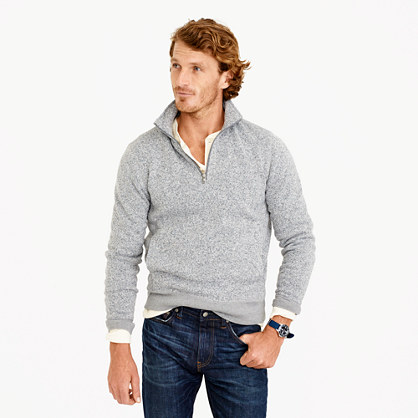 Tall Summit fleece half-zip sweatshirt in grey
