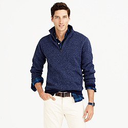 Tall Summit fleece half-zip sweatshirt in ultramarine