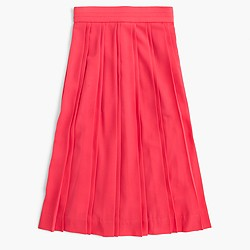 Double-pleated midi skirt