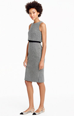 Going-places dress in houndstooth